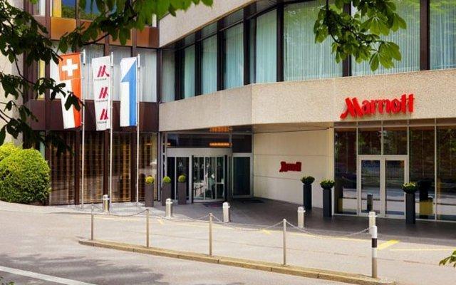 Zurich Marriott Hotel вид на фасад
