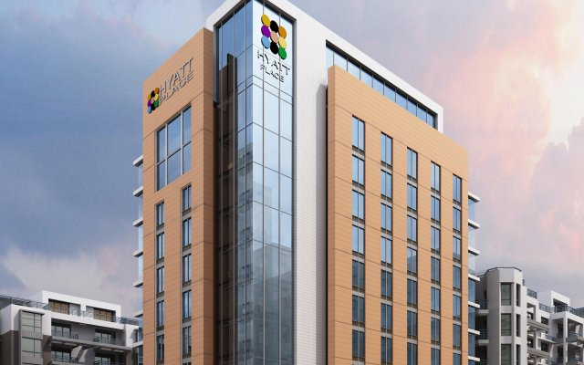 Отель Hyatt Place Dubai Baniyas Square вид на фасад