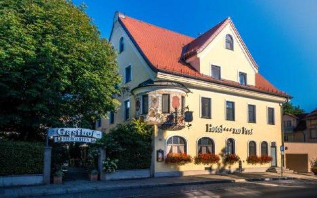 Hotel Gasthof Zur Post Унтерфёринг вид на фасад