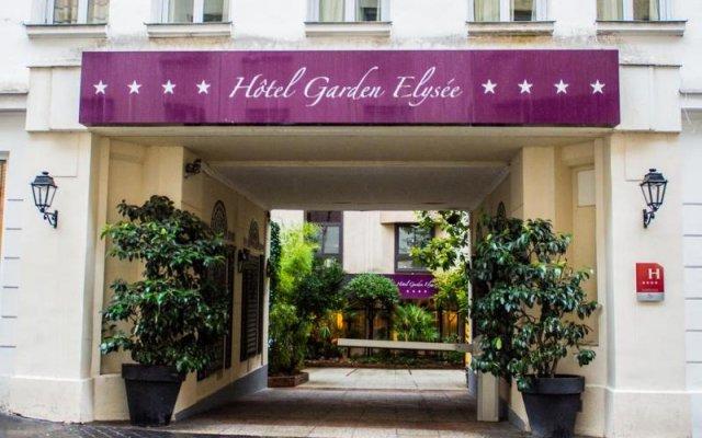 Отель Garden Elysee Париж вид на фасад