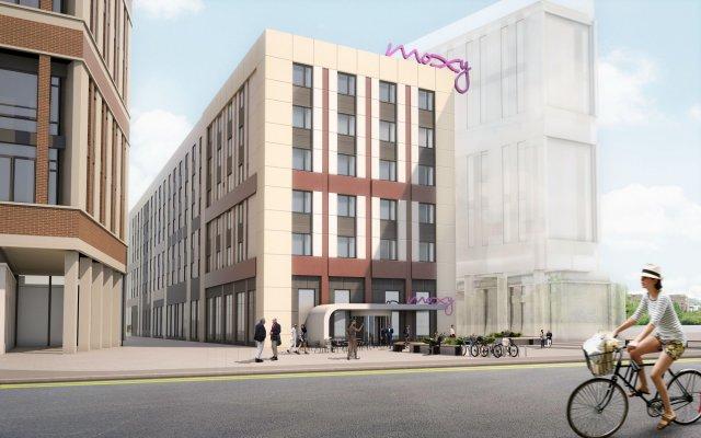 Отель Moxy Glasgow Merchant City Великобритания, Глазго - отзывы, цены и фото номеров - забронировать отель Moxy Glasgow Merchant City онлайн вид на фасад