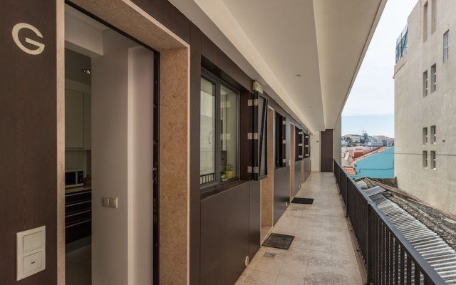 Апартаменты Rossio Penthouse Three-Bedroom Apartment w/ River View and Parking - b вид на фасад
