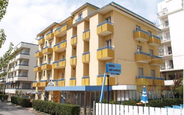 Hotel San Marino Риччоне вид на фасад