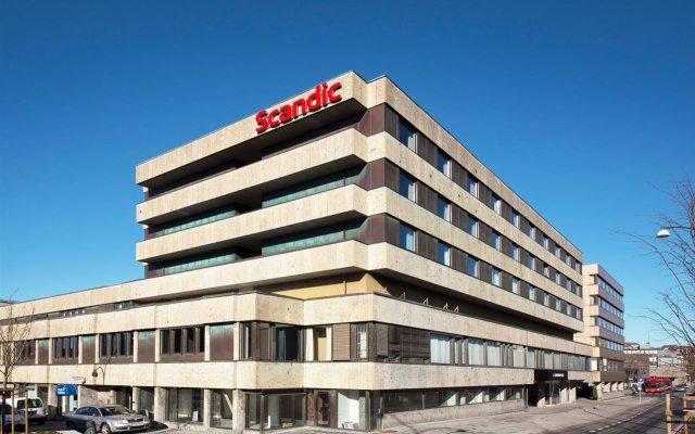 Отель Scandic City Fredrikstad Фредрикстад вид на фасад