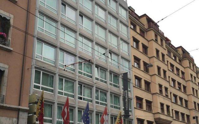 Отель Auteuil Manotel Швейцария, Женева - 1 отзыв об отеле, цены и фото номеров - забронировать отель Auteuil Manotel онлайн вид на фасад