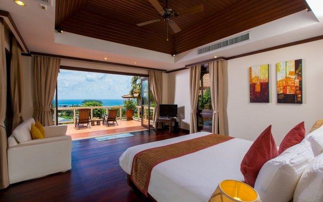 Отель Katamanda Villa 3BR with Private Pool E5 пляж Ката комната для гостей