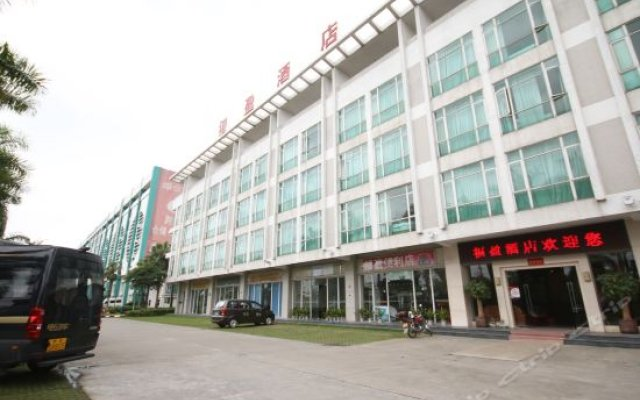 Peacock Fuying Theme Hotel (Guangzhou New Baiyun Airport) вид на фасад