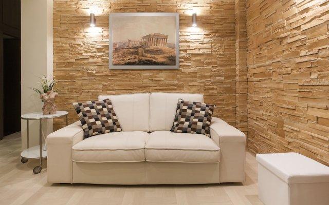 Апартаменты Gold and Blue Luxurious Apartment комната для гостей