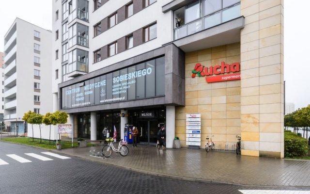 Апартаменты P&O Apartments Stegny Варшава вид на фасад