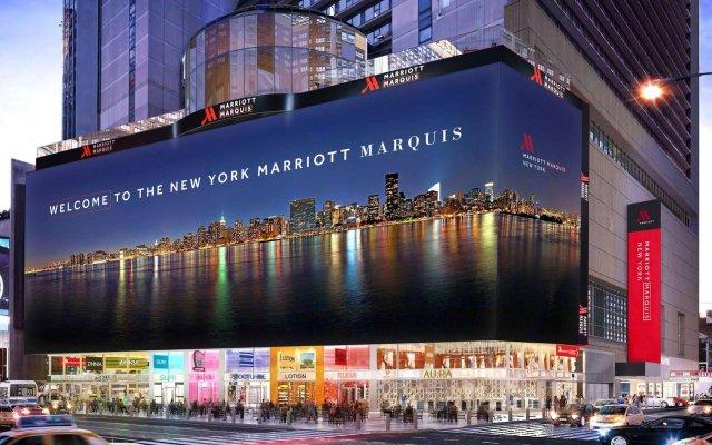 Отель New York Marriott Marquis США, Нью-Йорк - 8 отзывов об отеле, цены и фото номеров - забронировать отель New York Marriott Marquis онлайн вид на фасад