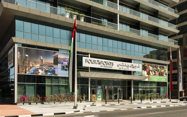 Отель Four Points by Sheraton Sheikh Zayed Road, Dubai вид на фасад