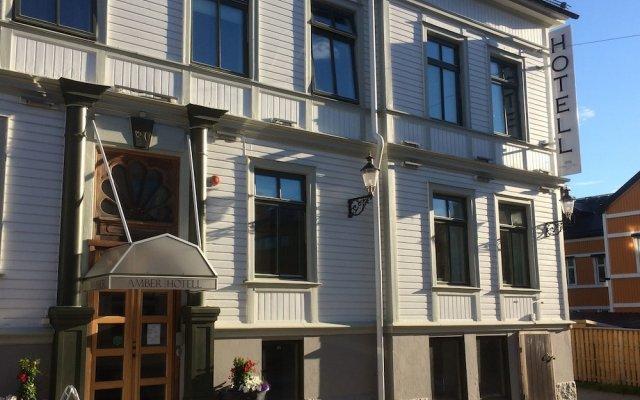 Отель Amber Hotell вид на фасад