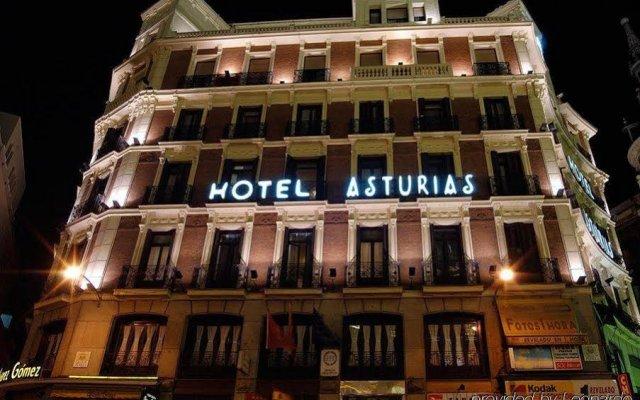 Отель Asturias Мадрид вид на фасад