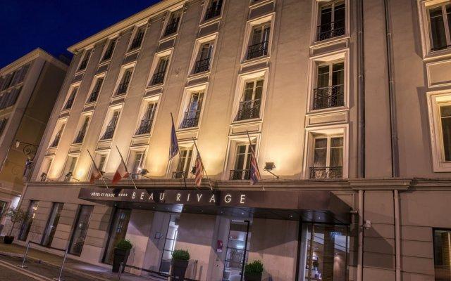Отель Beau Rivage Франция, Ницца - отзывы, цены и фото номеров - забронировать отель Beau Rivage онлайн вид на фасад