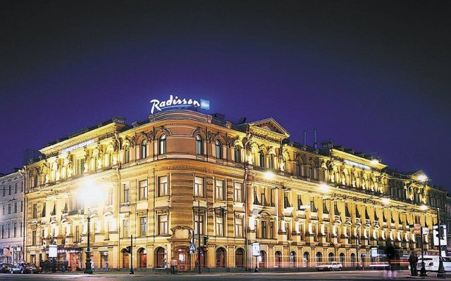 Гостиница Radisson Royal вид на фасад