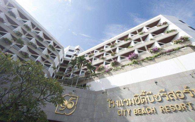 Отель City Beach Resort вид на фасад