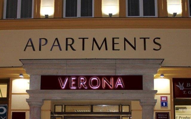 Апартаменты Apartments Verona Karlovy Vary вид на фасад