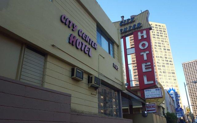 City Center Hotel Los Angeles Лос-Анджелес вид на фасад