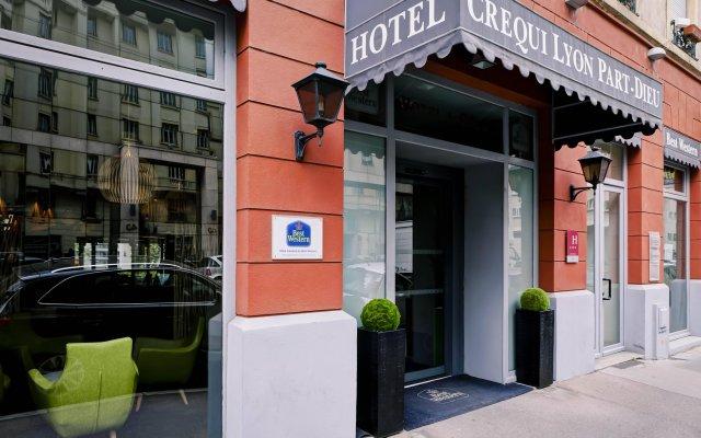 Отель Best Western Crequi Lyon Part Dieu Франция, Лион - отзывы, цены и фото номеров - забронировать отель Best Western Crequi Lyon Part Dieu онлайн вид на фасад