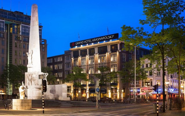 NH Collection Amsterdam Grand Hotel Krasnapolsky вид на фасад