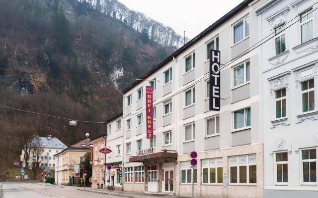 Hotel Drei Kreuz Зальцбург вид на фасад