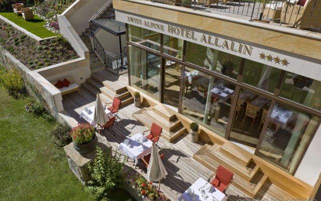 Отель Swiss Alpine Hotel Allalin Швейцария, Церматт - отзывы, цены и фото номеров - забронировать отель Swiss Alpine Hotel Allalin онлайн вид на фасад