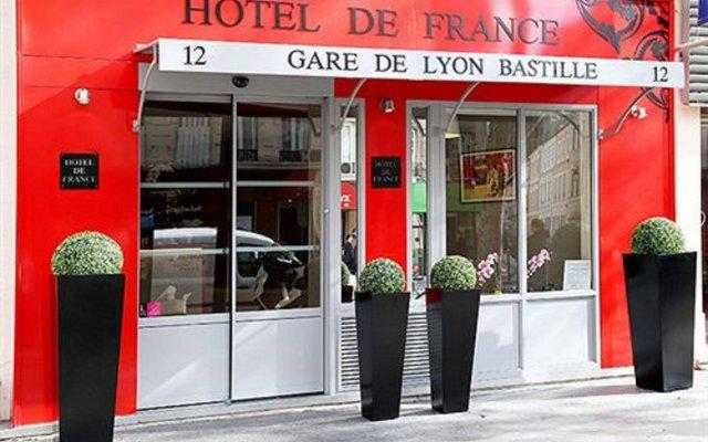 Hotel de France Gare de Lyon Bastille вид на фасад