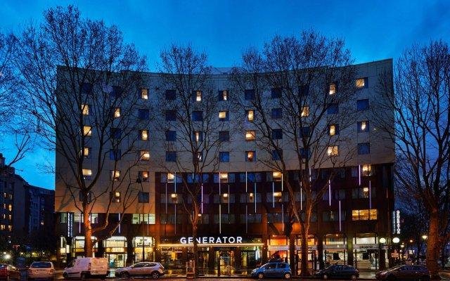 Отель Generator Paris вид на фасад