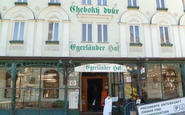 Отель Chebsky dvur - Egerlander Hof Чехия, Карловы Вары - отзывы, цены и фото номеров - забронировать отель Chebsky dvur - Egerlander Hof онлайн вид на фасад