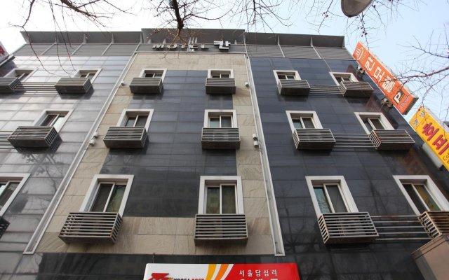 Отель Khan Motel Dapsimni Южная Корея, Сеул - отзывы, цены и фото номеров - забронировать отель Khan Motel Dapsimni онлайн вид на фасад