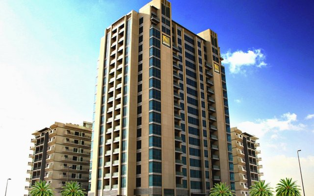 Abidos Hotel Apartment, Dubailand вид на фасад