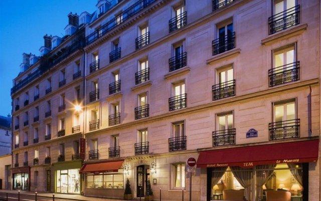 Отель Turenne Le Marais Париж вид на фасад