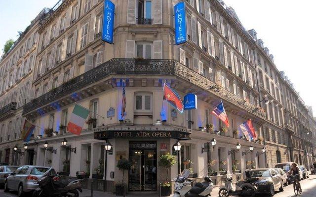 Отель Hôtel Aida Opéra Франция, Париж - 9 отзывов об отеле, цены и фото номеров - забронировать отель Hôtel Aida Opéra онлайн вид на фасад