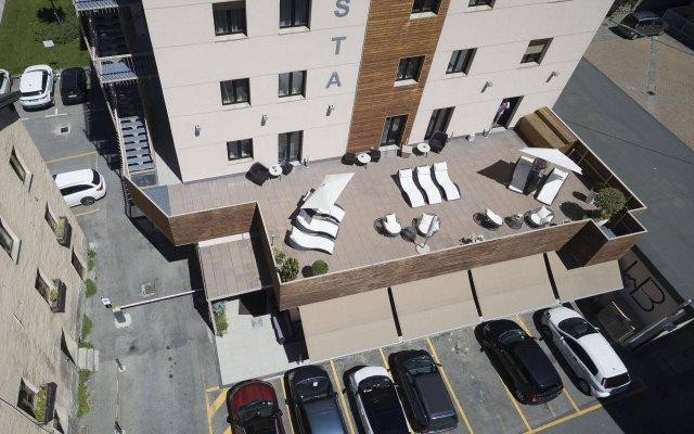 Отель HB Aosta Hotel & Balcony SPA Италия, Аоста - отзывы, цены и фото номеров - забронировать отель HB Aosta Hotel & Balcony SPA онлайн вид на фасад