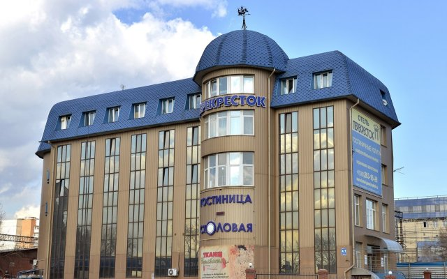 Гостиница Перекресток вид на фасад