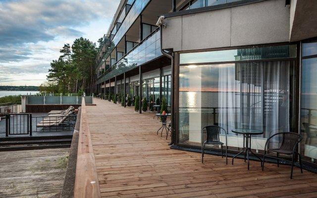 Апартаменты Pirita Beach & SPA Таллин вид на фасад