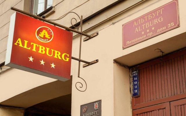 Мини-отель АЛЬТБУРГ на Литейном вид на фасад