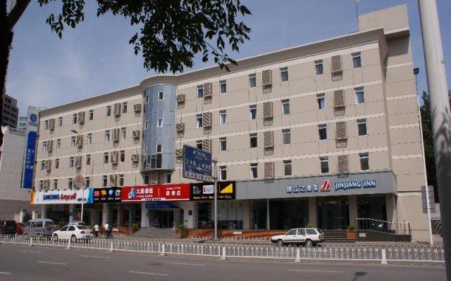Отель Jinjiang Inn Tianjin Heping Anshandao вид на фасад