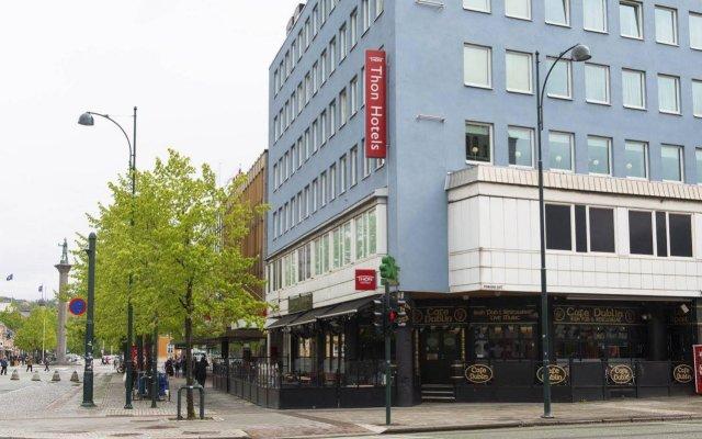 Thon Hotel Trondheim вид на фасад