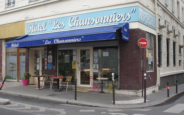 Отель Hôtel Les Chansonniers Франция, Париж - отзывы, цены и фото номеров - забронировать отель Hôtel Les Chansonniers онлайн вид на фасад