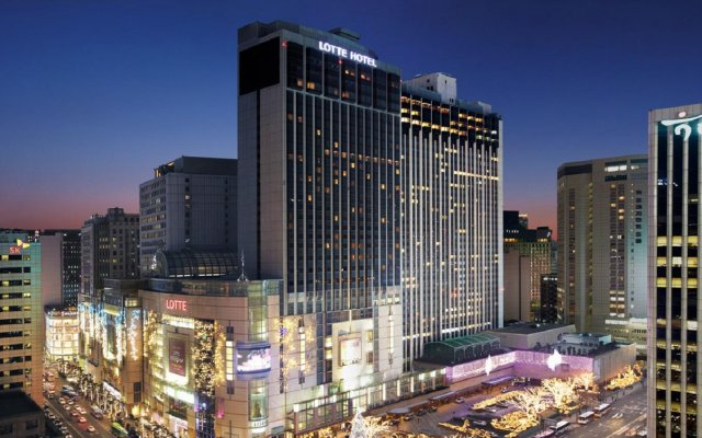 Lotte Hotel Seoul Executive Tower вид на фасад