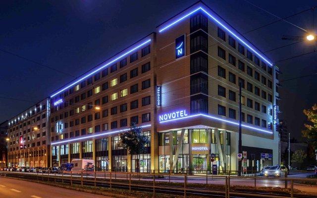Отель Novotel München City Arnulfpark Германия, Мюнхен - 2 отзыва об отеле, цены и фото номеров - забронировать отель Novotel München City Arnulfpark онлайн вид на фасад