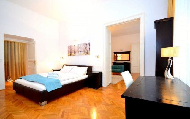 Апартаменты Vienna Residence Quiet Apartment With Space for up to 6 People комната для гостей