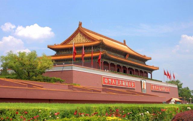 Отель Beijing Jinyuan Hotel Китай, Пекин - отзывы, цены и фото номеров - забронировать отель Beijing Jinyuan Hotel онлайн вид на фасад