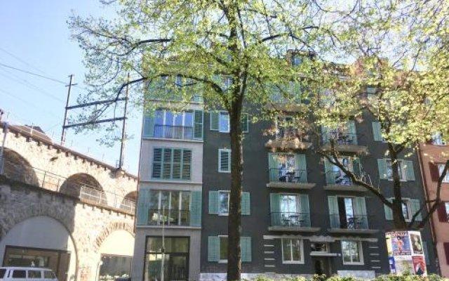 Отель Viadukt Apartments Швейцария, Цюрих - отзывы, цены и фото номеров - забронировать отель Viadukt Apartments онлайн вид на фасад