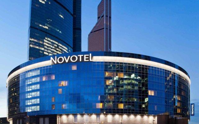 Гостиница Новотель Москва Сити вид на фасад