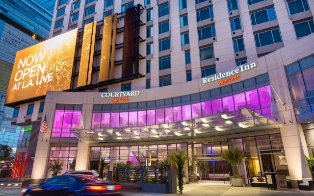 Отель Residence Inn Los Angeles L.A. LIVE США, Лос-Анджелес - отзывы, цены и фото номеров - забронировать отель Residence Inn Los Angeles L.A. LIVE онлайн вид на фасад