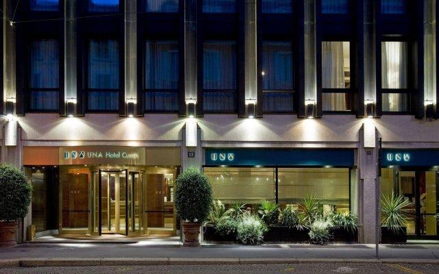 Отель UNAHOTELS Cusani Milano вид на фасад