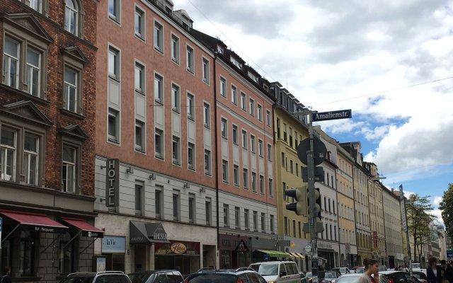 Отель Hauser An Der Universitaet Мюнхен вид на фасад