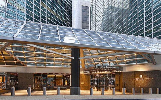 Отель Millennium Hilton New York One UN Plaza США, Нью-Йорк - 1 отзыв об отеле, цены и фото номеров - забронировать отель Millennium Hilton New York One UN Plaza онлайн вид на фасад
